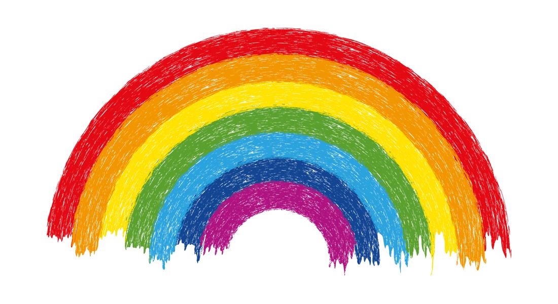 Regenbogen Ausmalbild Corona