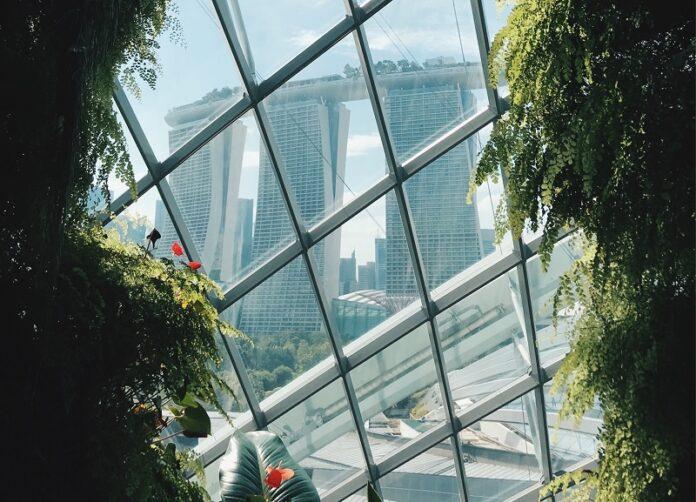 Grüne Hochhäuser Singapur
